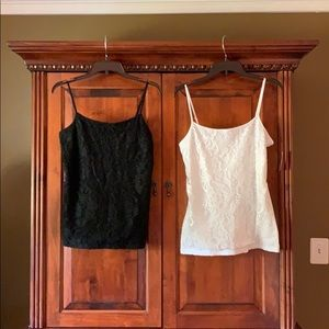 Ann Taylor- NWOT Lace front tank tops ( 2 for 1)